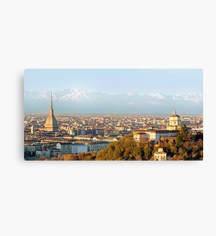 Turin (Torino), panorama at sunset Canvas Print