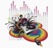 Vinyl Record Music Collage by SonicContours