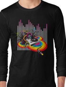 Vinyl Record Music Collage Long Sleeve T-Shirt
