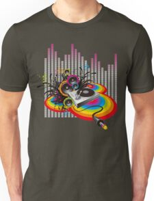 Vinyl Record Music Collage Unisex T-Shirt