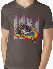Vinyl Record Music Collage Mens V-Neck T-Shirt