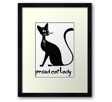 proud cat Lady Framed Print