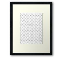 POSTER; 16x20 HEXES Blacklines on WHITE. Black numbers Framed Print