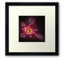 'Light Flame Abstract 230' Framed Print