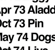 Hunky Ziggy Aladdin Pin Dogs Live Americans Station Sticker