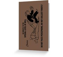 Special Hell Greeting Card
