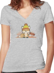 Pretty Cunning Women's Fitted V-Neck T-Shirt