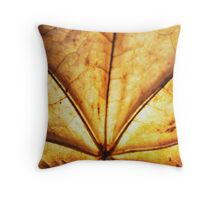 Maple leaf (brown leaf)... Throw Pillow
