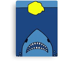 Jaws Has A Sweet-Tooth  Canvas Print