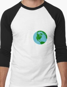 Earth Day April 22 Design Men's Baseball ¾ T-Shirt