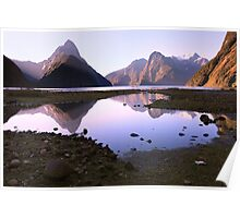 Milford Sound Sunset, South Island, New Zealand Poster