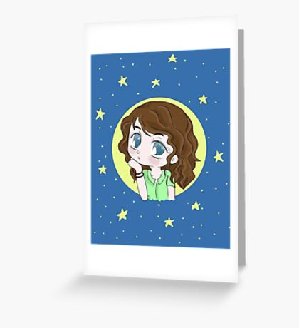 Chibi blue Greeting Card