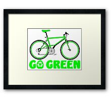 Go Green Bicycle Recycle Design Framed Print