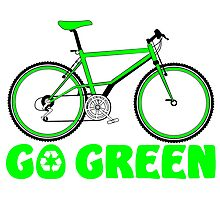 Go Green Bicycle Recycle Design Photographic Print