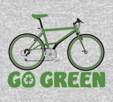 Go Green Bicycle Recycle Design by EthosWear