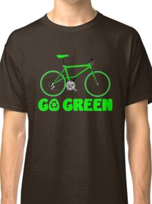 Go Green Bicycle Recycle Design Classic T-Shirt