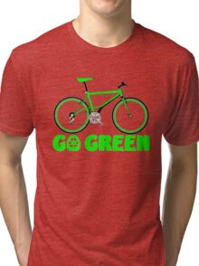 Go Green Bicycle Recycle Design Tri-blend T-Shirt
