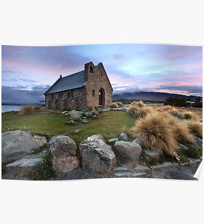 Church of the Good Shepherd, Lake Tekapo, New Zealand Poster
