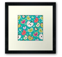Cute Apple Pattern Framed Print