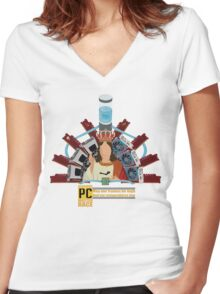 The Master Race Women's Fitted V-Neck T-Shirt