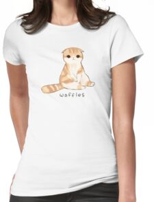 Waffles Womens Fitted T-Shirt