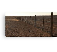 Dingo Fence, South Australia Canvas Print