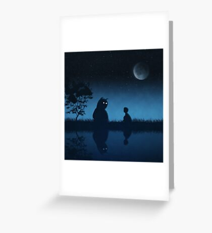The Friend of the Night Greeting Card