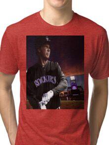 Will Ferrell Colorado Rockies Tri-blend T-Shirt