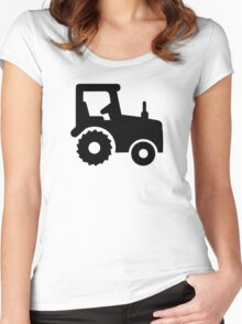 Black tractor Women's Fitted Scoop T-Shirt