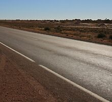 Stuart Highway, South Australia by mapartstudio