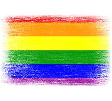 Grunge Rainbow Diversity Flag Photographic Print