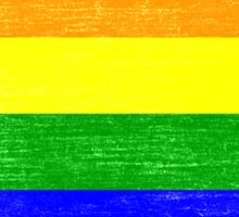 Grunge Rainbow Diversity Flag Sticker