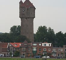 Velsen Zuid, Holland Water Tower by Allen Lucas