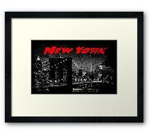New York Sin City Framed Print