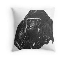 black gorilla  Throw Pillow