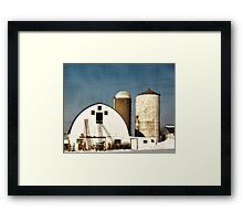 Wisconsin Barn with a little PS3 Framed Print