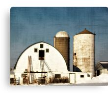 Wisconsin Barn with a little PS3 Canvas Print