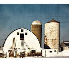 Wisconsin Barn with a little PS3 Photographic Print