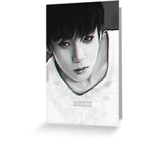 BTS Jungkook b&w 01 Greeting Card