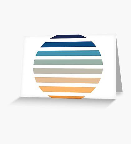 Beach- Sand, Ocean, Sky Color Theme Greeting Card