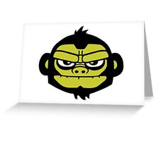 gorilla head ape singe gorille Greeting Card