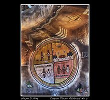 Grand Canyon Tower Abstract No 2 Open Edition Poster by Wayne King