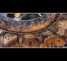 Grand Canyon Tower Wall Abstract No 3 by Wayne King