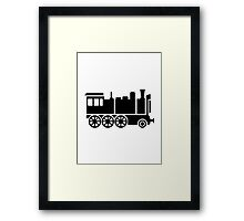Locomotive train Framed Print