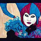 Pink & Blue Carnival Jester by psovart