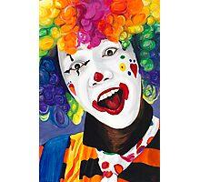 Rainbow Clown Photographic Print
