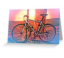 On Fire for Morning Ride Greeting Card