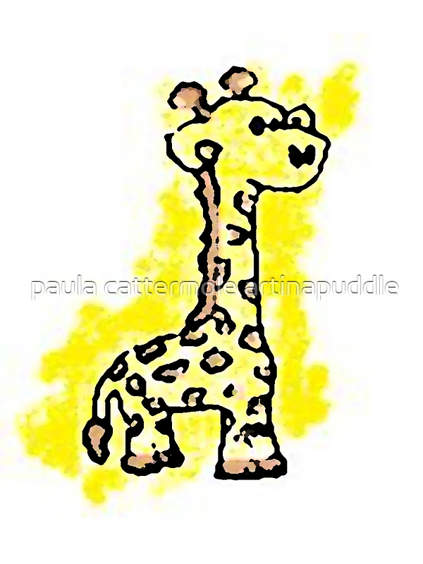 giraffey for the kids by paula cattermole artinapuddle
