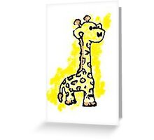 giraffey for the kids Greeting Card