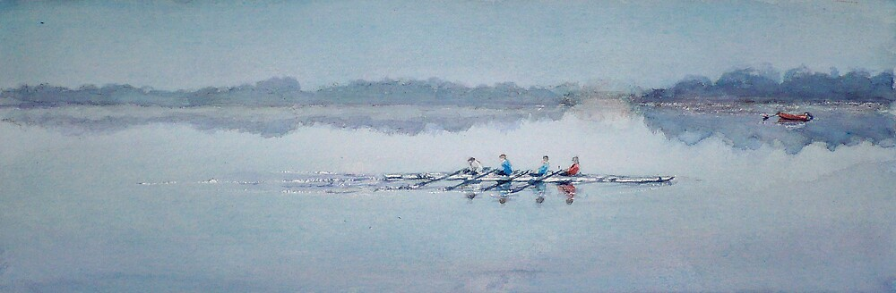 """""""Sculling at Bewl Water"""" by LorusMaver"""